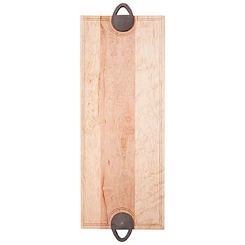 Maple Serving Board with Cast Metal Handles