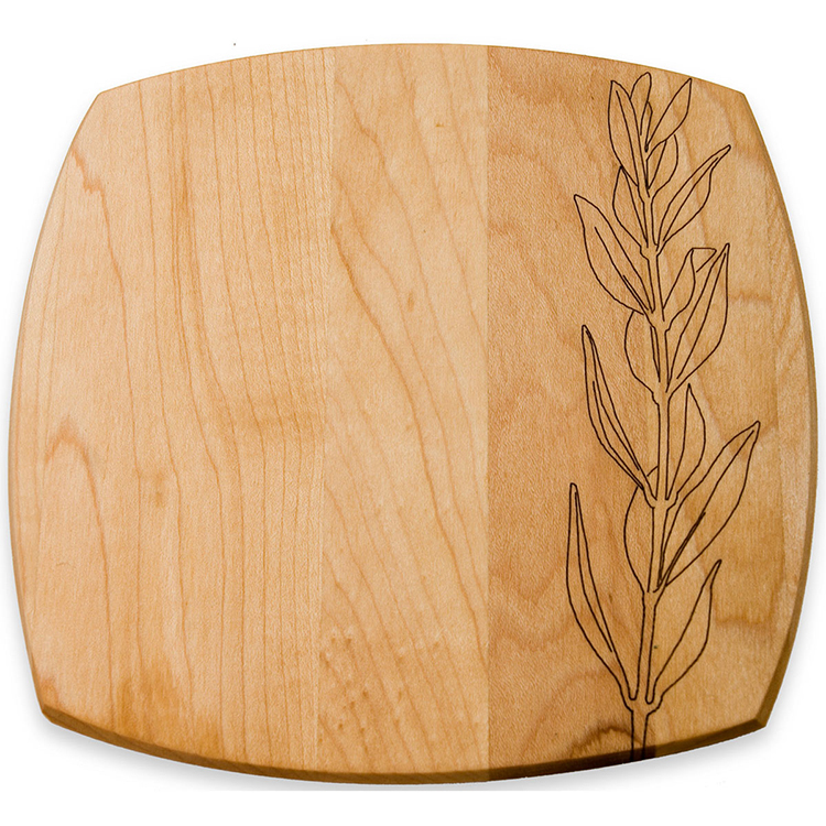 Maple Small Plate with Olive Branches