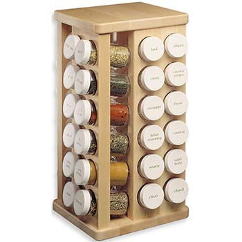 Spice Racks, Jars and Labels