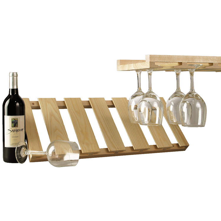 Maple Under Cabinet Stemware Rack