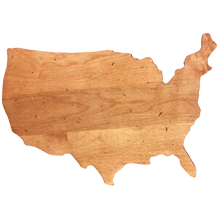 Maple USA Shaped Board