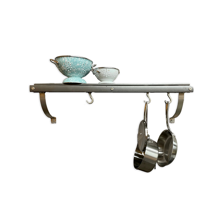 Maple Wall Mounted Pot Rack in Gray