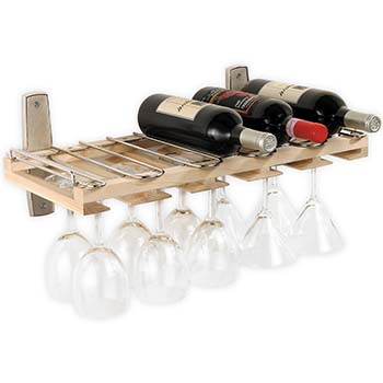 Maple Wine & Stemware Rack-Wall Mounted