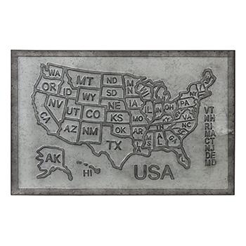 Metal Sign-USA Map - SAD-SB181