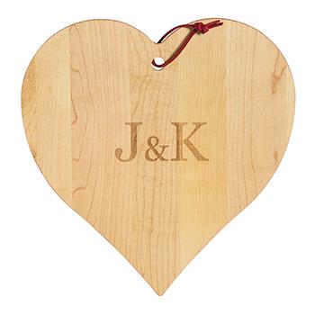 Maple Heart Shaped Board
