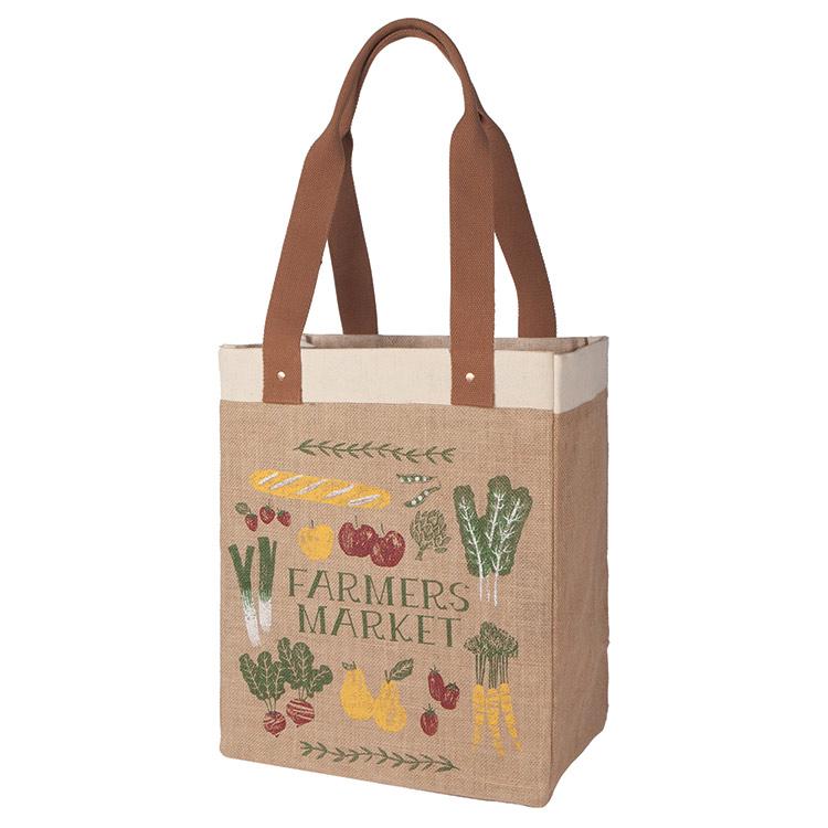 Jute Farmer's Market Tote Bag