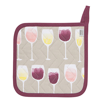 Pot Holder-Wine Tasting