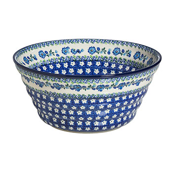 Polish Pottery Regency Bowl-Morning Glory