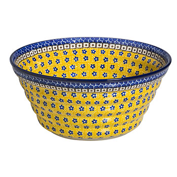 Polish Pottery Regency Bowl-Sunburst Daisy