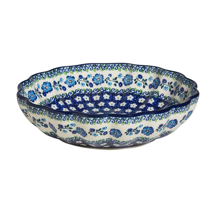 Polish Pottery Scalloped Bowl