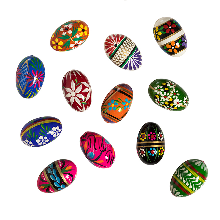 Polish Hand Painted Wooden Eggs (sets)