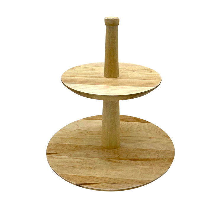 Maple Two Tiered Lazy Susan