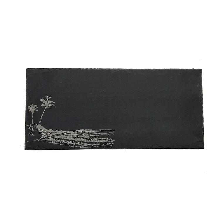 Rectangle Slate Serving Board-Palm Trees