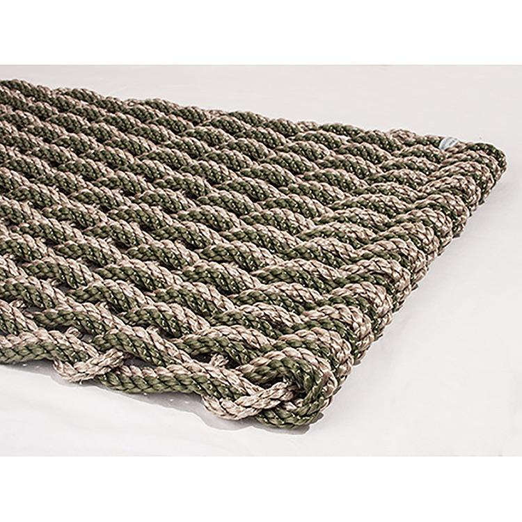 Rope Co. Doormat Sand U0026 Olive