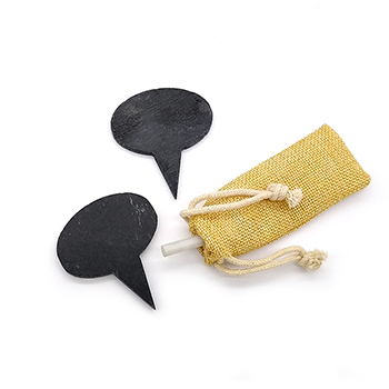 Slate Cheese Markers Set