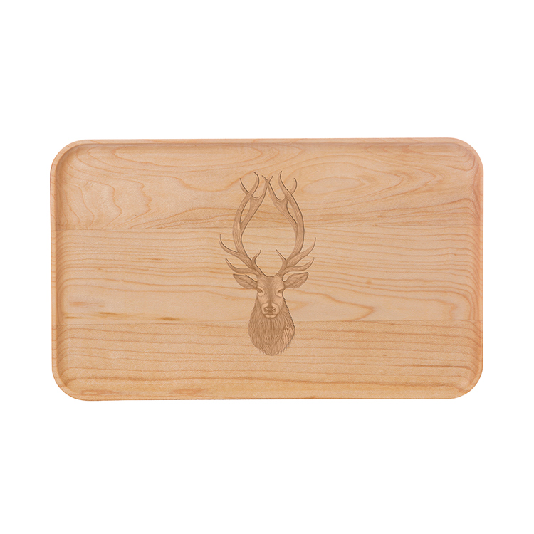 Small Maple Appetizer Plate-Buck