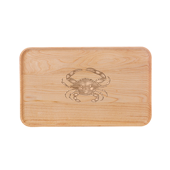 Small Maple Appetizer Plate-Crab - APT-905-M-CRAB