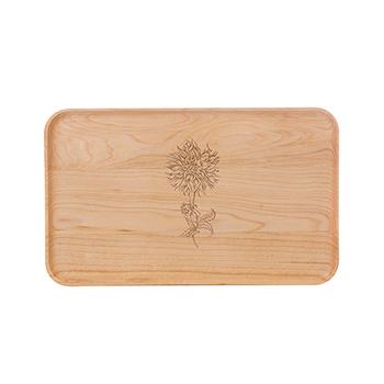 Small Maple Appetizer Plate-Dahlia - APT-905-M-DAHL