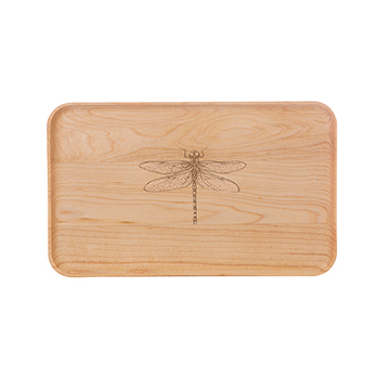 Small Maple Appetizer Plate-Dragonfly - APT-905-M-DRAG