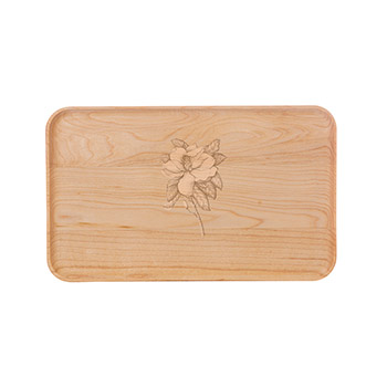 Small Maple Appetizer Plate-Magnolia - APT-905-M-MAGN