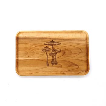 Small Maple Appetizer Plate-Mushroom - APT-905-M-MUSH-1