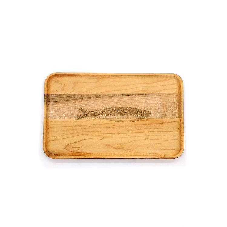 Small Maple Appetizer Plate-Sardine