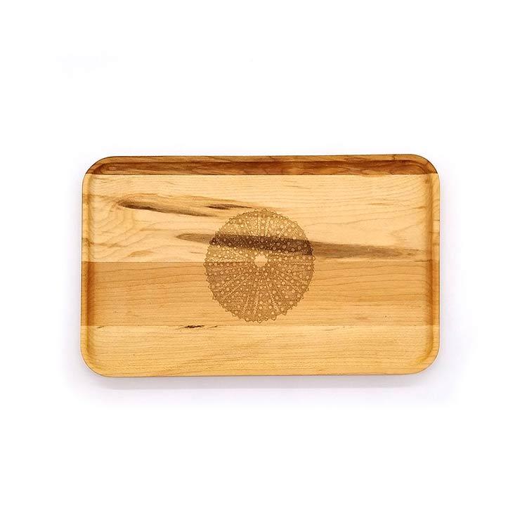 Small Maple Appetizer Plate-Sea Urchin
