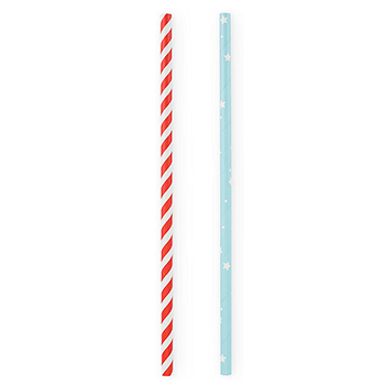 Paper Straws-Stars and Stripes