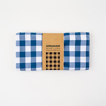 "Blue Gingham Tablecloth-56""x56"""