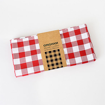 "Red Gingham Tablecloth-56""x56"""