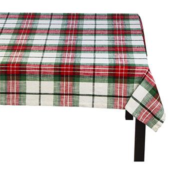 Tablecloth-Festive Plaid - TAG-TABLE-FESTIVE