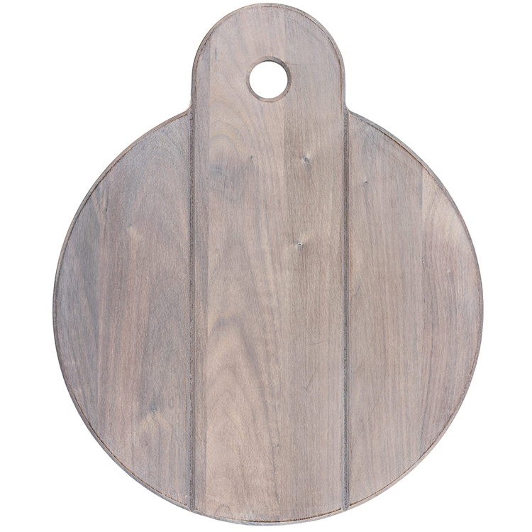 Walnut Whitewashed Round Cheese Board