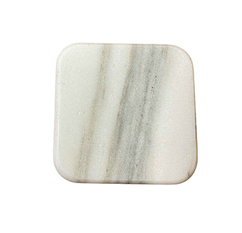 Vermont Marble White Square Coasters-set of 4 - SFS-SQ-CO-DW