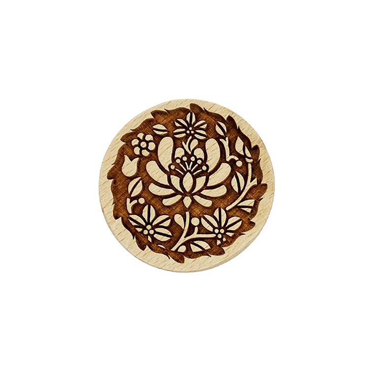 Wooden Cookie Stamp-Flower