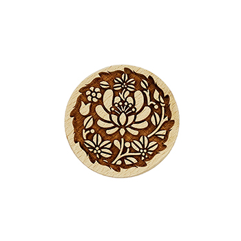 Wooden Cookie Stamp-Flower