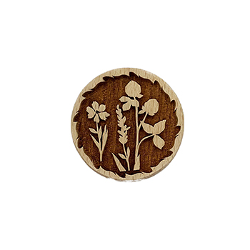 Wooden Cookie Stamp-Wildflowers