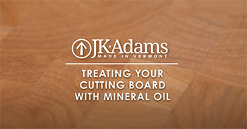 VIDEO: Conditioning Your Cutting Board with Mineral Oil
