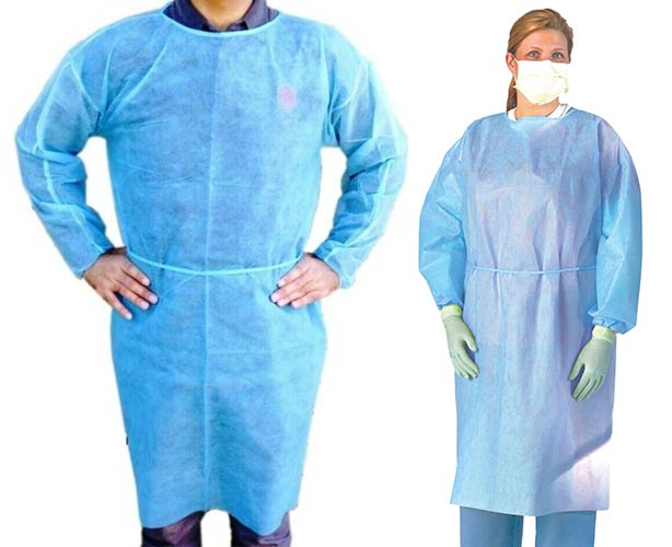 ISOLATION GOWN, BLUE