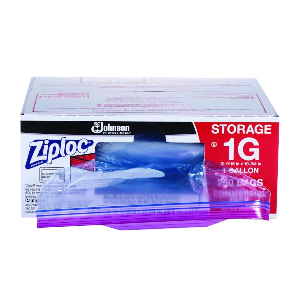 ZIPLOC STORAGE BAGS, 1 GAL, 250/PK