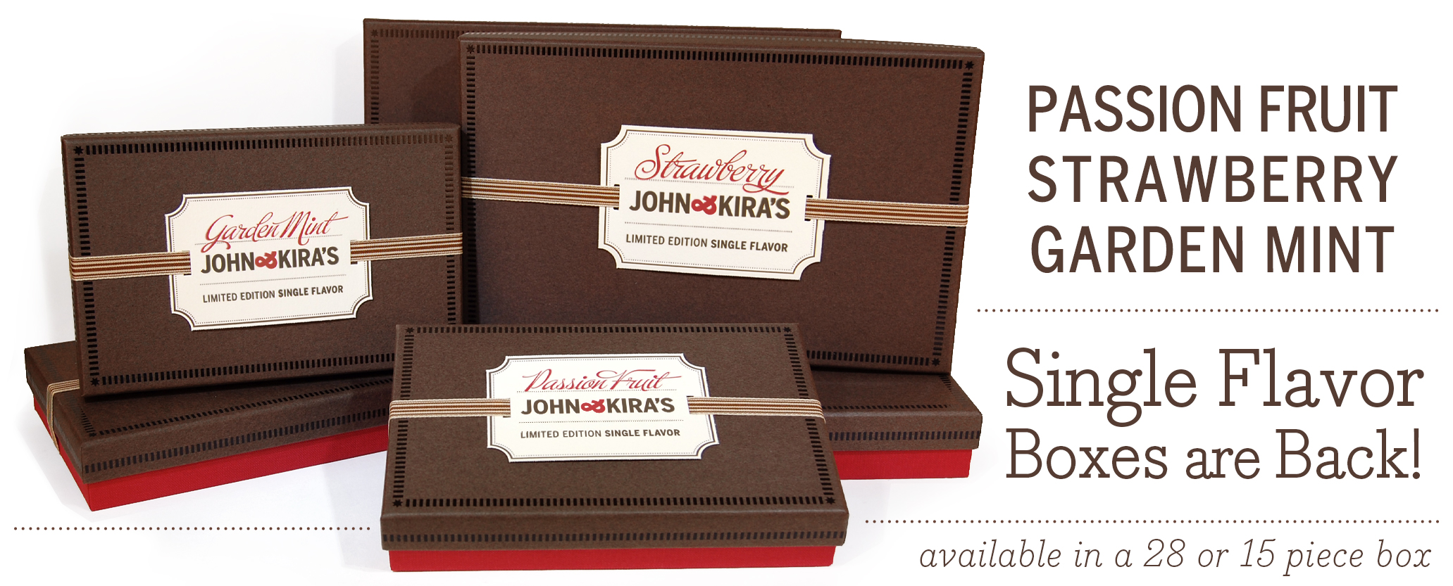 LIMITED EDITION - SINGLE FLAVOR BOXES ARE BACK - Featuring Strawberry, Garden Mint, and Passion Fruit!