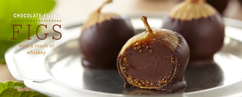 Chocolate-filled Figs