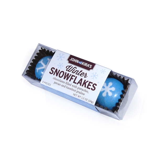 Praline Snowflakes 3pc