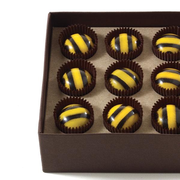 Nine Caramel Bees
