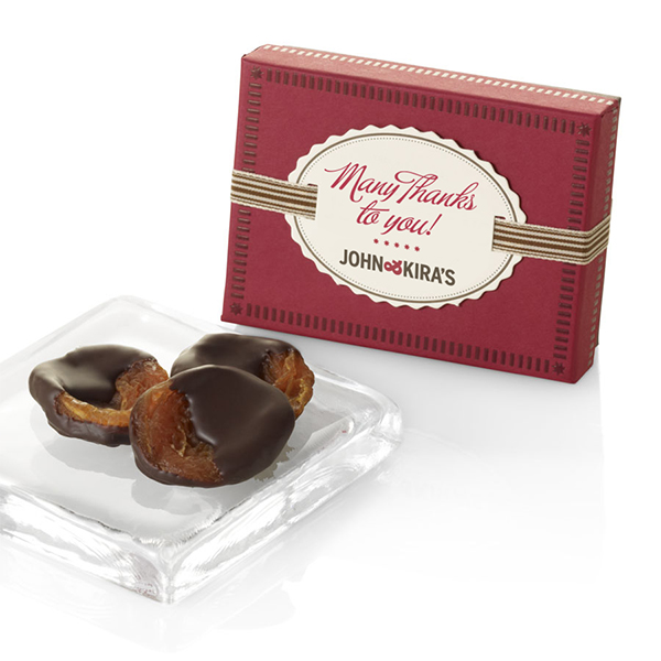 Chocolate-dipped Heirloom Apricots 6pc - Thank You