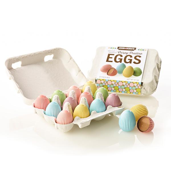 Crispy Praline Eggs and Carton