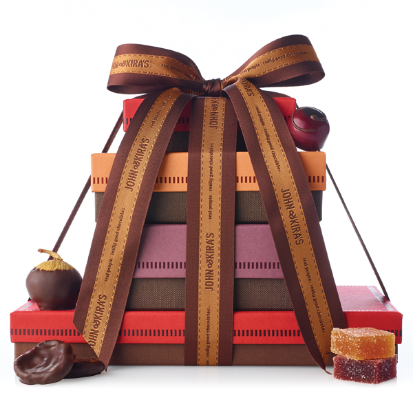 Fruit Tower with Apricots, Figs, Cherries and Fruit Squares