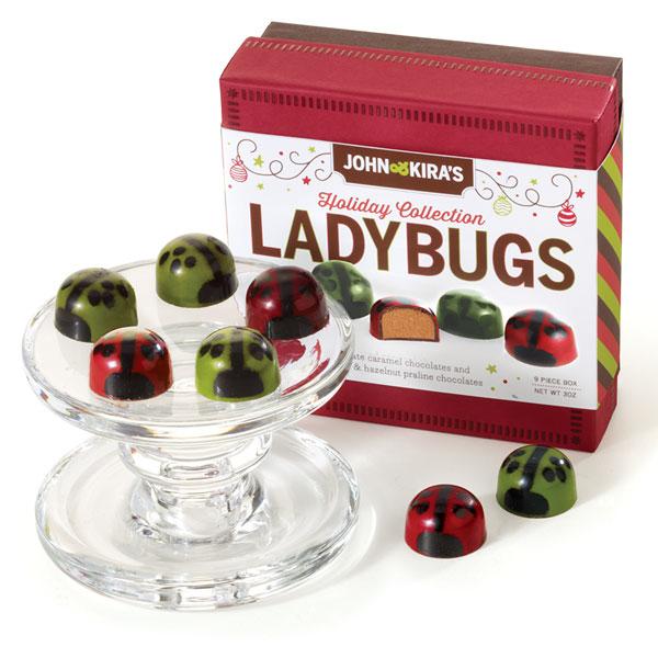 Caramel & Praline Holiday Ladybugs 9pc