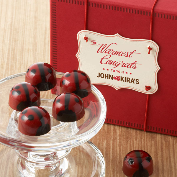 Dark Chocolate Ganache Ladybugs 9pc - Congrats