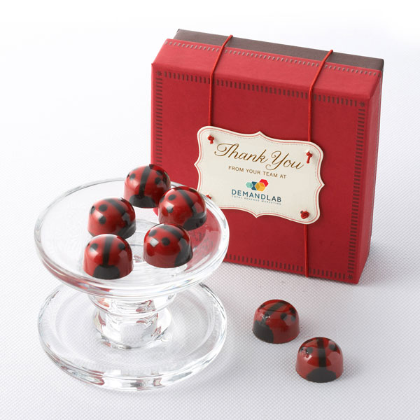 Ganache Red Lovebug Chocolates 16pc - Business