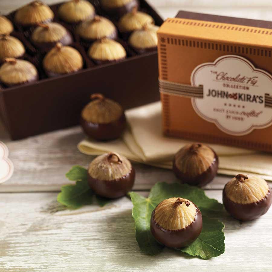 Chocolate Figs 6pc - John and Kira's Chocolates